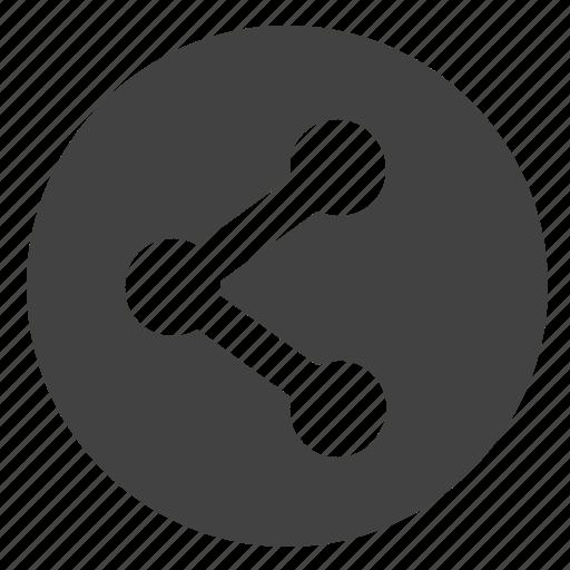 href, link, round, share, ui, url icon