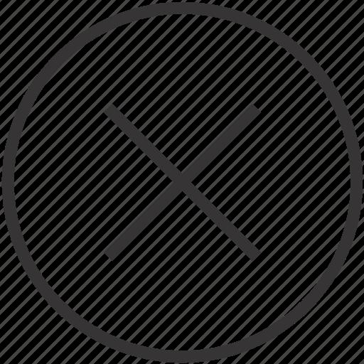 cancel, close, exit, remove, stop icon