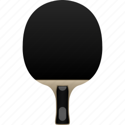 bat, black rubber, blade, chinese, paddle, penhold, table tennis icon