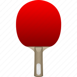 bat, blade, handshake, paddle, ping pong, red rubber, table tennis icon