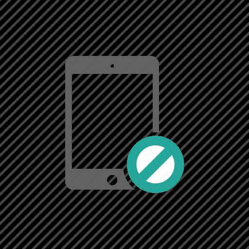 error, ipad, prohibit, tablet, warning icon