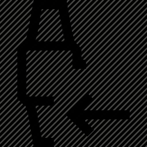 arrow, device, left, mobile, smart, watch icon
