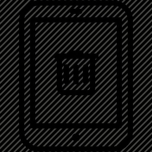 delete, device, ipad, remove, tablet, trashcan icon
