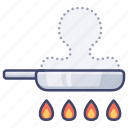 cooking, fry, kitchen, pan icon