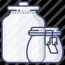container, jar, food, storage