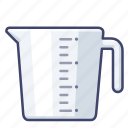 cup, kitchen, jug, measuring icon