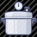 cooker, kitchen, pot, pressure icon
