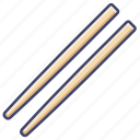 bamboo, chinese, chopsticks, food icon