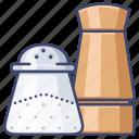 pepper, salt, seasoning, shaker icon
