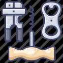 bottle, can, corkscrew, opener icon
