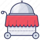 cart, food, restaurant, service icon