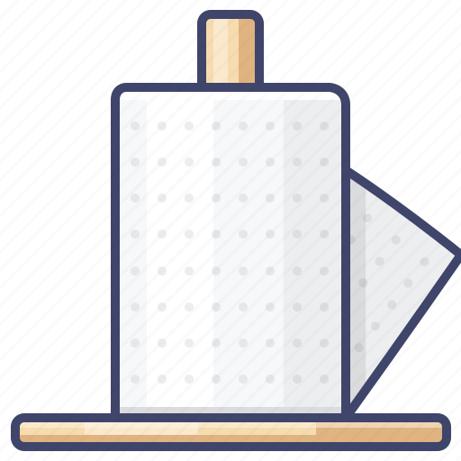 kitchen, paper, roll, towel icon