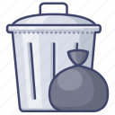 can, home, kitchen, trash icon