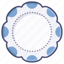 artistic, dinner, plate, tableware icon
