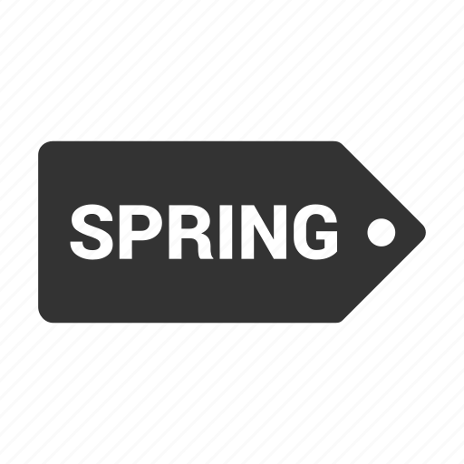 coupen, offer, pricing, sale, shopping, spring, tag icon