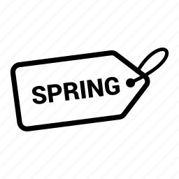 coupen, discount, offer, pricing, sale, spring, tag icon