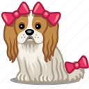 bow, dog, pet icon