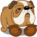 animal, box, bulldog, dog, fight, pet, sport icon