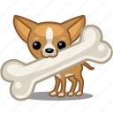 bone, dog, pet, puppy icon