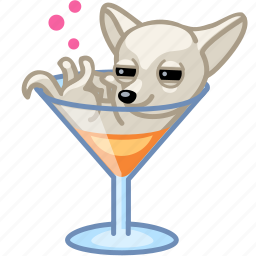 alcohol, animal, cocktail, dog, drunk, party, puppy icon