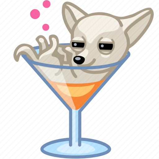 alcohol, cocktail, dog, drunk, puppy icon