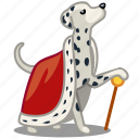 dog, king, pet, royal icon