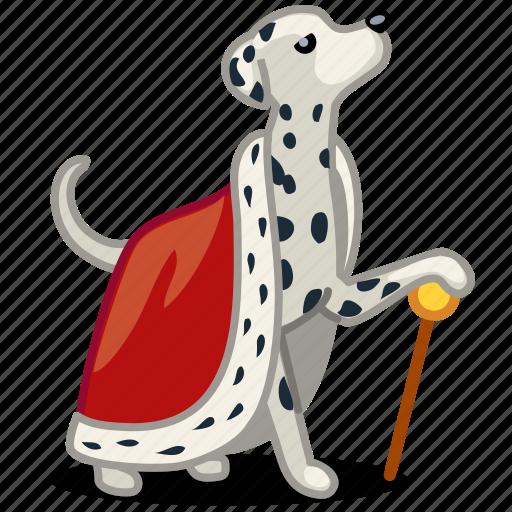 dog, king, pet, royal icon