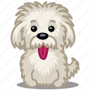 animal, dog, einstein, moustache, pet, puppy, tongue icon