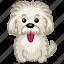 animal, dog, einstein, moustache, pet, puppy, tongue icon