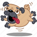 animal, dog, emoticon, emotion, happy, jump, puppy icon