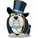 dog, fancy, finance, pet, rich icon