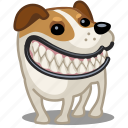 dog, pet, puppy, smile icon