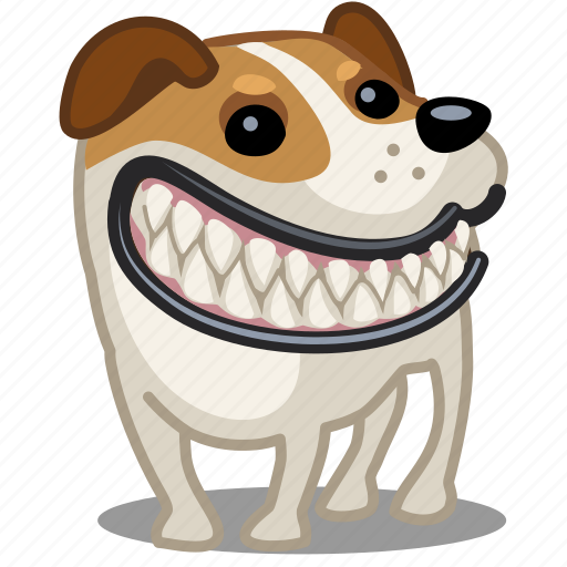 animal, dog, head, monster, pet, puppy, smile icon