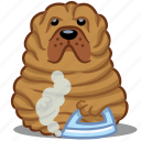 animal, dog, fat, iron, pet, sharpei, wrinkle icon