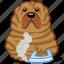 animal, dog, fat, iron, pet, sharpei, wrinkle icon
