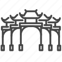gate, hsing tian kong, landmark, liberty square, paifang, taipei, taiwan icon