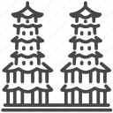 kaohsiung, landmark, pagoda, pavilion, taipei, taiwan, temple icon