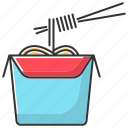 chinese, color, fast food, noodles, spaghetti, takeaway, to go icon
