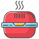box, burger, color, container, fast food, lunchbox, takeaway icon