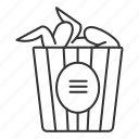 bucket, chicken wings, chicken wings icon, fast food, fast food icon, fried, takeaway icon