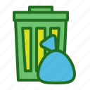 can, recycle bin, trash icon
