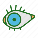 contact, ecommerce, eye, seen icon