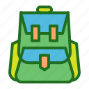 backpack, bag, camping, ecommerce, shopping, travel icon