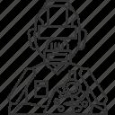 destroyer, robot, military, weapon, invasion icon