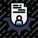 configure, cv, profile, resume, setting icon