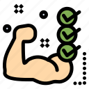 checklist, gym, muscle, routine, training icon