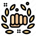 boxing, fight, fist, hand, punch icon