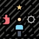 life, star, talent, traning, user icon