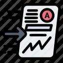 chart, file, progress, report, send icon