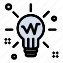 bulb, glow, idea, light, solution icon